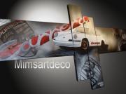 tableau sport tableau porsche tableaux moderne tableau voiture tableau design : Porsche carrera blanche