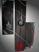 tableau abstrait tableau abstrait art contemporain oeuvre horloge : Tableau abstrait Horloge