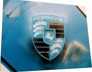 tableau sport logo porsche tableau unique porsche bleu : TABLEAU LOGO PORSCHE BLEU