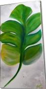 tableau fleurs : Tableau feuille verte