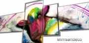 tableau animaux tableau vache tableau animaux peinture animaux artiste peintre : Tableau abstrait vache multicolore