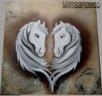 Tableaux chevaux blanc