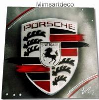 Tableau logo Porsche 1 Toile