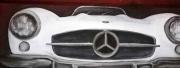 tableau sport mercedes benz vehicule ancien tableau voiture peinture sur toile : TABLEAU MERCEDES BENZ