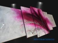 Tableaux abstrait amethyste