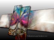 tableau abstrait tableau arbre de vie peinture arbre de vie arbre de vie colore tableau abstrait moderne : TABLEAU ABSTRAIT ARBRE DE VIE COLORÉ