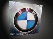 tableau sport tableau bmw tableaux moderne tableau automobile logo sigle voiture : Tableau Logo BMW