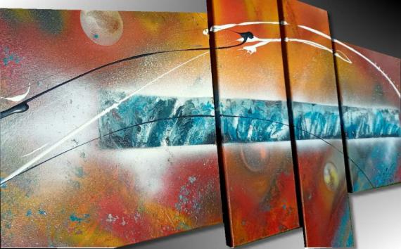 TABLEAU PEINTURE tableau design peinture abstraite peinture moderne tableau contemporain Abstrait  - TABLEAU ABSTRAIT MODERNE ENERGIE
