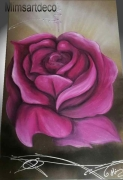 tableau fleurs tableau rose mauve grand tableau fleur grand tableau rose tableau xxl : Grand tableau rose