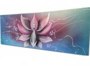 tableau fleurs tableau zen fleur de lotus artiste peintre decoration maison : Tableau zen Fleur de lotus