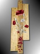 tableau fleurs tableau palette deco palette deco recup palette deco florale palette : TABLEAU FLEUR PEINTURE SUR BOIS DE PALETTE