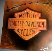 tableau sport logo motors cycles harley davidson tableau moto : Tableau logo Harley Davidson