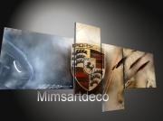 tableau abstrait tableaux porsche tableaux moderne tableau voiture tableau design : Tableaux Porsche logo