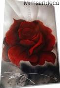tableau fleurs tableau rose rouge grand tableau rose r grand tableau rouge grand tableau modern : Grand tableau rose rouge