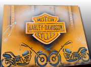 tableau autres tableau harley harley davidson peinture harley motor cycles : TABLEAU HARLEY DAVIDSON MOTOR CYCLES