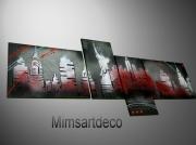 tableau villes tableaux abstraits peinture moderne tableau contemporain decoration murale : Tableau abstrait New York City