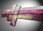 tableau abstrait tableau abstrait artiste peintre art moderne peinture sur toile : Tableau abstrait  mauve