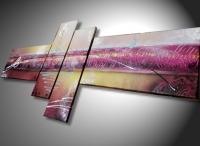 Tableau abstrait  mauve