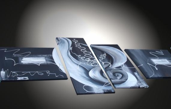 TABLEAU PEINTURE tableaux abstraits tableaux moderne art contemporain tableau design Abstrait  - Tableau abstrait Trouble