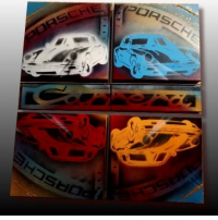 Tableau Porsche pop art modulable