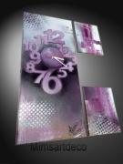 tableau abstrait tableau horloge peinture moderne art contemporains tableau design : Tableau Horloge design