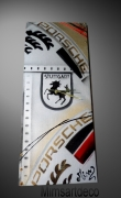 tableau sport tableaux porsche horloge porsche peinture porsche tableaux voiture de : Tableau abstrait Horloge Logo Porsche