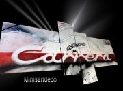 tableau sport tableau porsche peinture porsche car tableau design conte tableaux voiture de : Peinture LOGO Carrera PORSCHE Blanc
