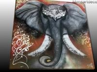 Tableau elephan grande taille