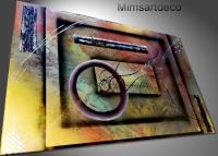 Tableau moderne abstrait multicolore