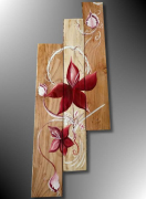 tableau fleurs tableau palette peinture sur palette deco palette deco mrale palette : TABLEAU DE PEINTURE DÉCO MURALE BOIS DE PALETTE