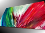 tableau abstrait art moderne art contemporain tableau d artiste peinture unique : Tableau abstrait Explosion de couleur