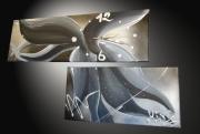 tableau abstrait tableau abstrait oeuvre unique tableau moderne tableau design : Tableau abstrait Horloge