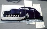 tableau sport tableau abstrait mercury 51 tableau voiture decoration murale : Tableau voiture Mercury