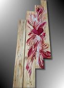 tableau fleurs palette deco peinture palette tableau palette peinture sur bois : TABLEAU PEINTURE IDÉE RÉCUP SUR PALETTE BOIS