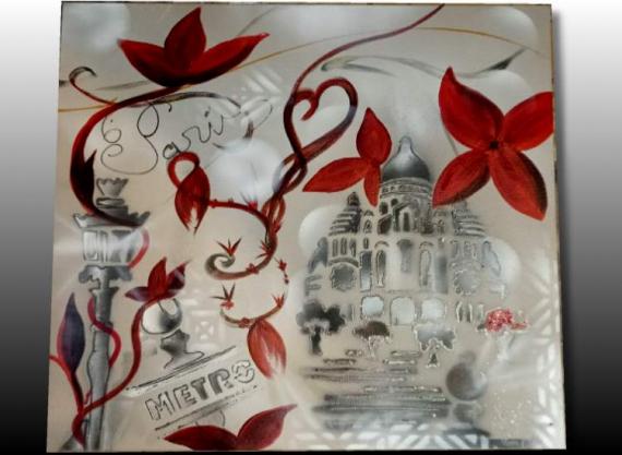 TABLEAU PEINTURE tableau paris peinture paris deco paris decoration paris Villes Acrylique  - TABLEAU PARISIENS, PEINTURE SUR TOILE