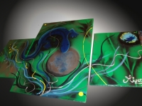 Tableau abstrait moderne Erwan