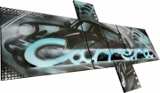 tableau sport tableau porsche porsche carrera tableau voiture peinture porsche : Tableau Porsche Carrera  bleu