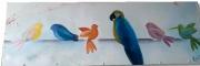 tableau animaux tableau oiseaux tableau perroquet peinture moderne deco maison : Tableau abstrait oiseaux