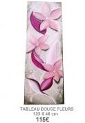 tableau fleurs tableau parme peinture fleur art moderne creation artisanale : Tableau creation fleur parme