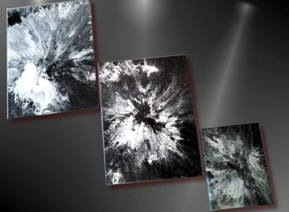 TABLEAU PEINTURE tableau air swipe tableau abstrait noir peinture abstraite noire peinture air swipe Abstrait  - TABLEAU ABSTRAIT UNIQUE- NOIR ET BLANC air swipe