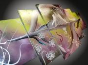 tableau abstrait tableau horloge abstraits moderne home deco : tableaux abstrait horloge