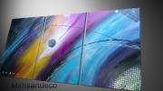 tableau abstrait tableau design conte art abstrait : Tableau arc en ciel celeste