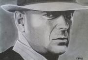 dessin personnages personnalites : portrait Bruce WILLIS
