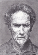 dessin personnages personnalites : CLINT EASTWOOD