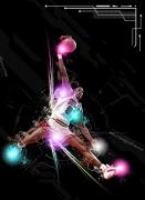art numerique sport basket : JORDAN