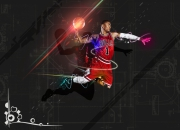 art numerique sport basket : D ROSE