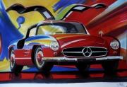 dessin autres autos : MERCEDES 300 SL