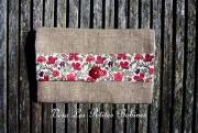 art textile mode fleurs portefeuille lin liberty vero les petites bob : Portefeuille lin et liberty collection Arnold 6