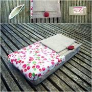 art textile mode abstrait portefeuille lin coton accessoire : portefeuilles multipoches lin et coton NINA