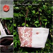 art textile mode autres sac ,a main cabas lin cuir : Sac à main lin cuir et coton cachemire collection été 2011